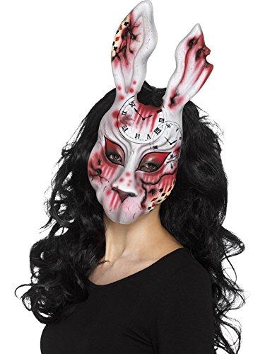 Smiffys, Unisex Hasen Maske, One Size, Bunt, (Halloween Hasen Kostüme In)