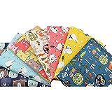 7 Unids Telas infantiles ositos zorritos100% algodon canastillas, vestiditos, cojines, cocina, guirnaldas, manualidades de co