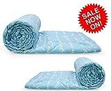 #4: Reversible AC Single Bed 2 Comforter/Blanket/Quilt/Duvet For Winters- Blue & White -By Divine Casa