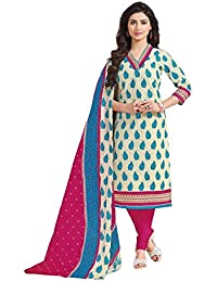 Baalar Women's Cotton Dress Material (1413_Free Size_beige)