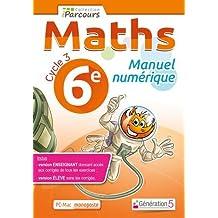 Manuel numerique iparcours maths 6e (DVD enseignant monoposte)