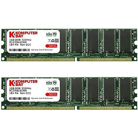 Komputerbay - Memoria para PC, 2GB (2 x 1GB), DDR DIMM (184 PIN), 333Mhz, PC2700, DDR333