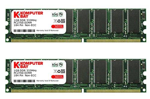 Komputerbay 2Go (2 X 1Go) DDR DIMM (184 PIN) 333Mhz DDR333 PC2700...