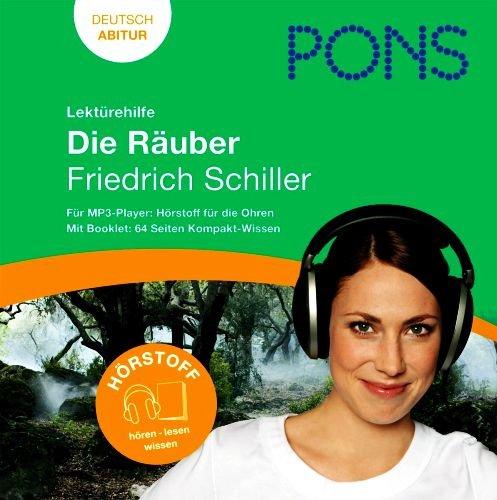 Lektürehilfe Deutsch Abitur - Die Räuber von Friedrich Schiller - Deutsch Abitur (Ein Hörbuch mit Booklet: 60 Seiten Kompakt-Wissen in Dialogform) [MP3-CD / Audiobook]