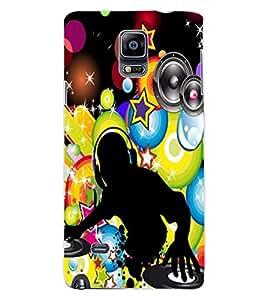 ColourCraft DJ Design Back Case Cover for SAMSUNG GALAXY NOTE 4