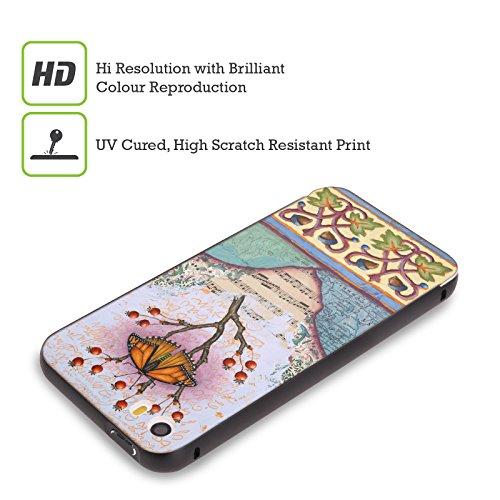 Ufficiale Rachel Paxton Giaccca Fialla Insetti Nero Cover Contorno con Bumper in Alluminio per Apple iPhone 5 / 5s / SE Farfalla 6