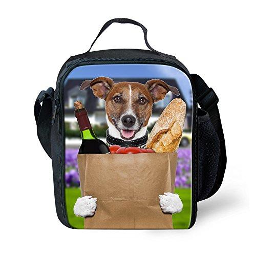 Showudesigns termica per il pranzo degli animali per la scuola con porta bottiglia, Poliestere, color 11, small color 7