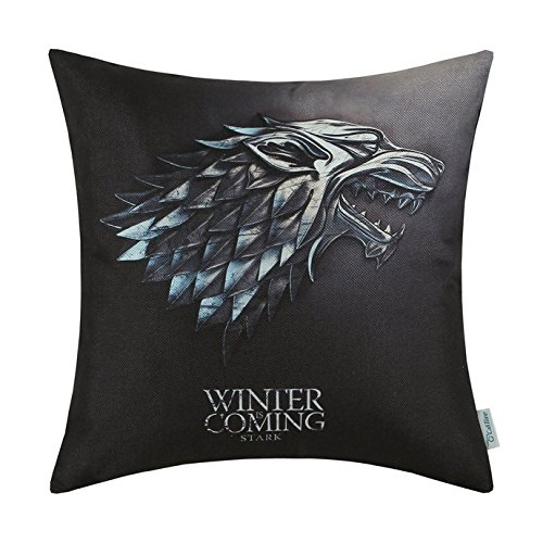 artoutletmf A Game of Thrones Häuser stark Winter is Coming 8 Kissen Fall Personalisierte Baumwolle Decor Kissen 45,7 x 45,7 cm