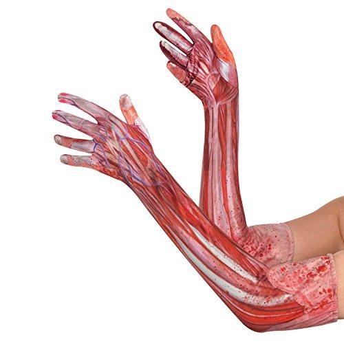 Lange Handschuhe – Blutige Muskeln und Sehnen