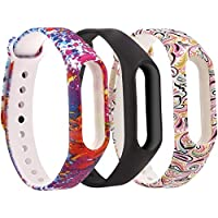 Moretek für Xiaomi Mi Band 2 Armband,Silikon Wasserdichtes Ersatz-Armband Ersatzband Bracelet für Xiaomi Mi Band 2 Fitnessarmband Zubehör