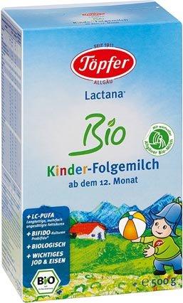 TÖPFER Lactana Kinder Bio Folgemilch Pulver 500 g Pulver