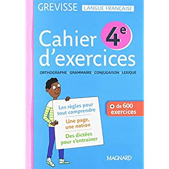 Cahier d'exercices Grevisse 4e