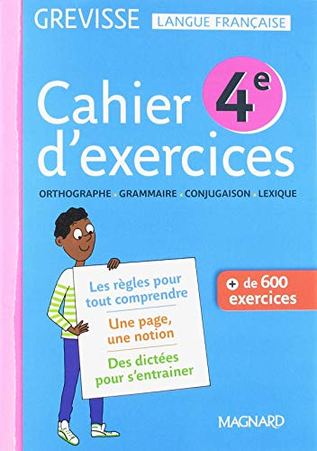 Cahier d'exercices Grevisse 4e