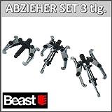 Beast - Juego de 3 extractores de rodamiento