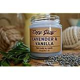 Cozy Glow Lavendel und Vanille Soja Kerze Jar - 35 + Stunden Burning Time