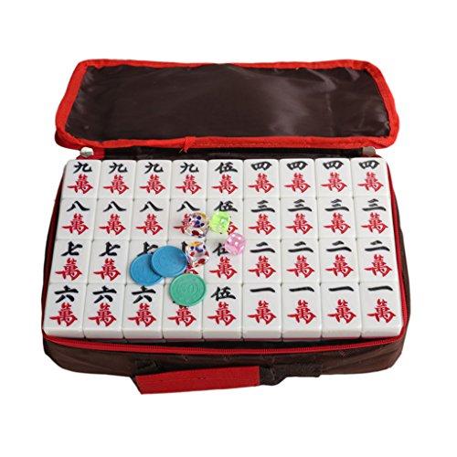 LI JING SHOP - Blue Home Mahjong Card / Große Hand Reiben Mahjong ( größe : L-4.4*3.3*2.2CM (144 sheets) )