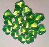 30 grün-groß-Herz-en-Deko-Steine-Diamanten-für-Hochzeit-Geburtstag-Valentin-Tag-ca.2 cm x 2 cm Tisch-deco-Tau-Tropfen-Glas-Perlen-vom Sachsen Versand