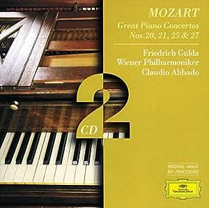 Mozart: Great Piano Concertos Nos. 20, 21, 25 & 27