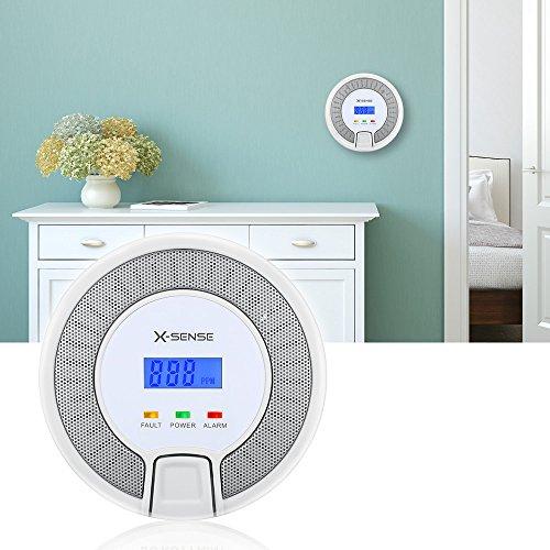 X-Sense CO03D CO Melder Kohlenmonoxid CO-Detektor Batteriebetrieben Sensor und Alarm mit Digitalanzeige und Höchstwertspeicherung - 3