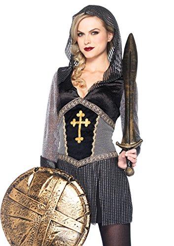 ostüm Joan of Arc, Größe M, schwarz/silber (Leg Avenue Kapuzen Kostüme)