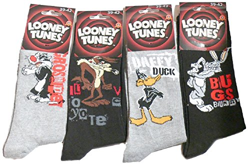 calze-looney-tunes-vile-bugs-daffy-duck-silvestre-multicolore-39-42