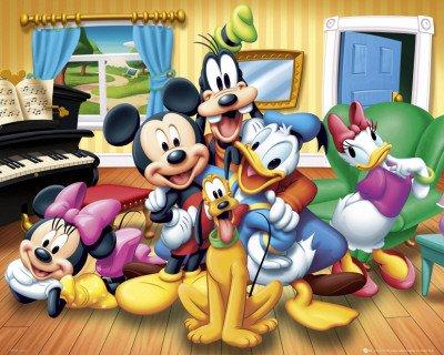 Mini-Poster 'Micky Maus und Freunde', Größe: 51 x 41 cm