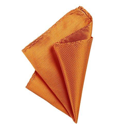 DonDon Herren Einstecktuch 21 x 21 cm formstabil und verstellbar für feierliche Anlässe orange