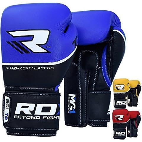 RDX Guantes Boxeo Saco Vacuno Cuero Entrenamiento Sparring Mitones Muay Thai Kick Boxing