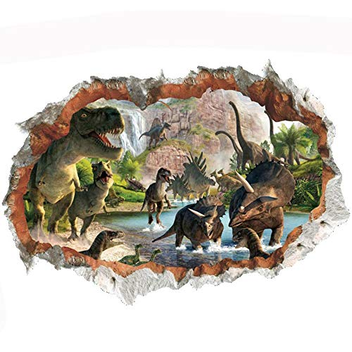 JUNMAONO 3D Dinosaurier Wandaufkleber/Abnehmbare Wandbild Aufkleber/Wandgemälde/Wand...
