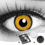 Funnylens 1 Paar farbige gelbe schwarze Crazy