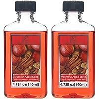 aromathérapie Hosley® Premium Grade 140ml très parfumée recharge pour diffuseur Oil- Lot de 2/140ml (14cl) chaque–Made in USA. BULK Buy (Apple à épices)