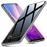 ESR Cover per Samsung Galaxy S10, Custodia Protettiva in Vetro Temperato 9H [Asseconda Il Vetro Retrostante][AntiGraffio] + Cornice Paraurti in Silicone Morbido [Antiurti] per Samsung S10(Trasparente)