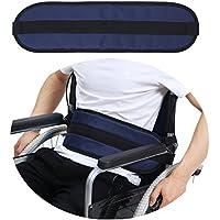 Cinturón de seguridad para silla de ruedas, correas de sujeción para patios, cuidados, cinturón de seguridad para personas mayores, color azul