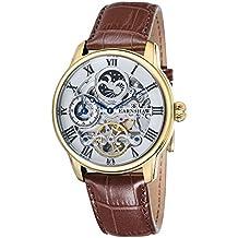 Thomas Earnshaw ES-8006-02 - Reloj para hombre con esfera analógica de color blanco y correa de cuero marrón
