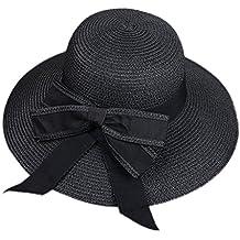 Leisial Sombrero al Aire Libre de Protector Solar Gorra de Playa Sombrero  para el Sol Paja d29e019ded9a