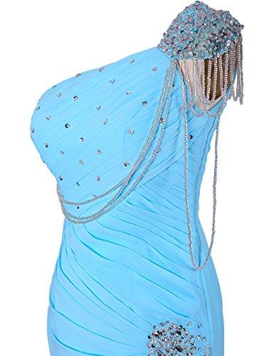 Dressystar Robe femme, Robe de soirée/ Cérémonie longue, Sirène /trompette, perlée, en Mousseline Corail