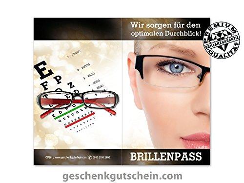 500 Stk. Brillenpässe für Optiker, Brillengeschäfter, Brillenhändler OP561
