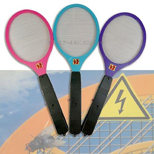 (143) 3 x Elektrische Fliegenklatsche Insektenvernichter Fliegenschläger Bunt