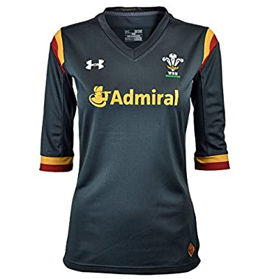Wales WRU 2016/17 Alternate Ladies S/S Rugby Shirt by Under Armour