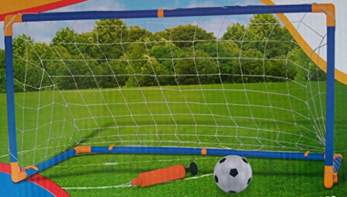 KriToy Football Soccer Goal Post, Net, Ball, Pump Kit All in one Indoor Outdoor Game for Kids
