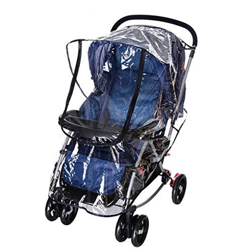Bomcomi Universal-Kinderwagen Regen-Abdeckung mit Lüftungslöchern Klar Wetter Windsicher Schild für Kinderwagen (Wetter Kinderwagen Abdeckung Für)