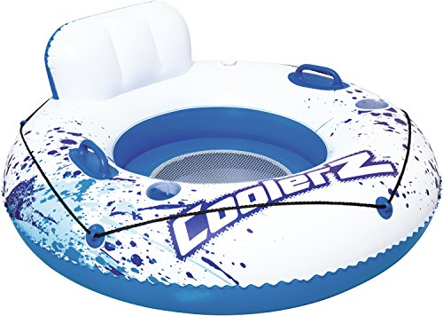 Bestway 43108 - Ciambella Poltrona Coolerz Luxury, 119 cm, Blu/Bianco