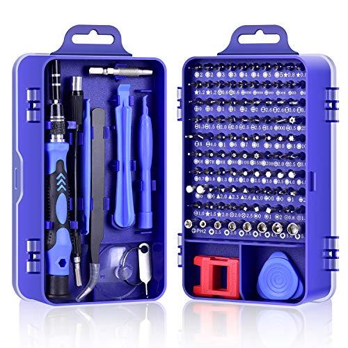 DAZAKA Juego de Destornilladores de Precisión Profesional 115 en 1 Kit de Controlador Magnético Kit de Herramientas de Para Teléfono Celular