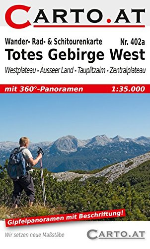 Wander- Rad- & Schitourenkarte 402a Totes Gebirge West: Westplateau - Ausseer Land - Tauplitzalm - Zentralplateau