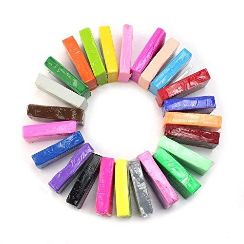 CiaraQ Modelliermasse für Ofen, aus Polymer, ungiftig, bunt, 24 Farben Polymer Clay - Polymer Clay Farbe