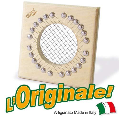 TAPU\' IL TAGLIA PUNTARELLE Artigianale Made in Italy Slicer Tagliapuntarelle Tagliaverdure Multiuso Utensile Manuale Cucina Mandolina Affettaverdure Taglio Julienne Betulla Alluminio Acciaio Inox
