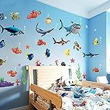 MECO Wandtattoo Wandaufkleber Wandbilder Kinderzimmer Haus Dekoration Sticker Fisch Wasserwelt