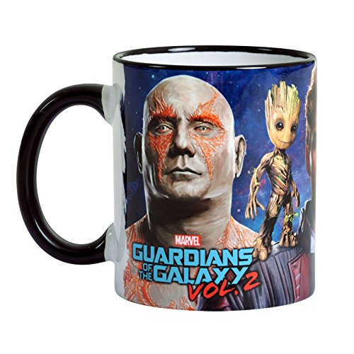 axy Vol. 2 Tasse Collage mit Star-Lord, Rocket, Groot von Elbenwald Keramik ()
