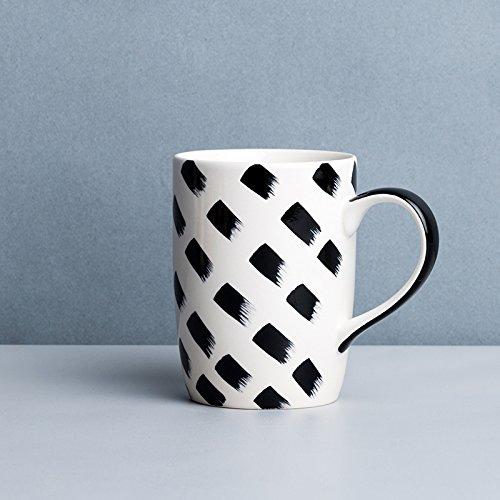 TIANLIANG04 Becher、Kaffeetassen Schwarze Und Weiße Keramik Tasse Tastatur Frühstück Tasse...