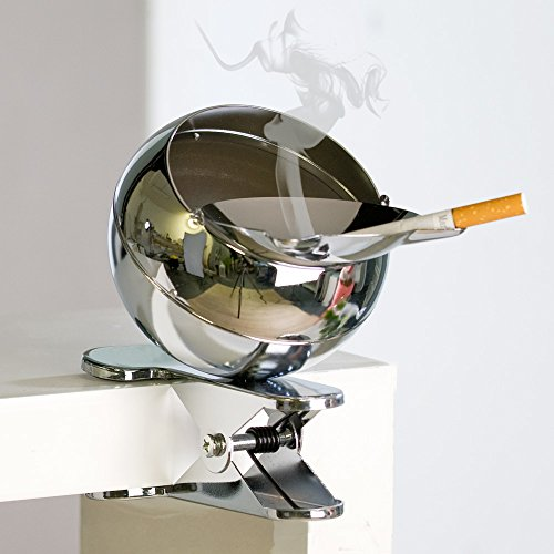 windproof-metal-spherical-ashtray-with-clip-for-fixing-to-tables-benches-with-foam-rubber-on-clips-h